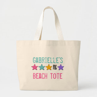 Personalized Starfish Beach Tote Bag