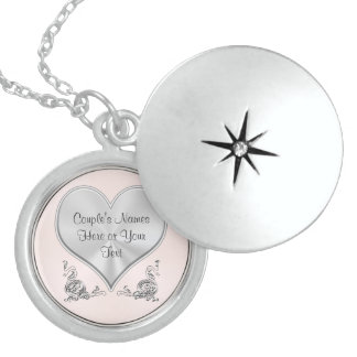 Personalized Sterling Silver Wedding Necklaces