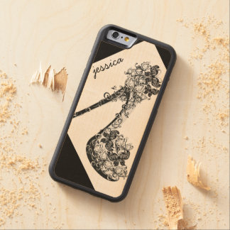 Personalized Stilettos Shoes High Heels Pumps Carved Maple iPhone 6 Bumper Case