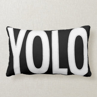 Personalized Stitched YOLO You Only Live Once Lumbar Pillow