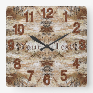Personalized Stone Look MAN CAVE Clock Wall Decor
