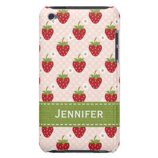 Personalized Strawberry iPod Touch 4th Gen Case-Ma iPod Touch Covers