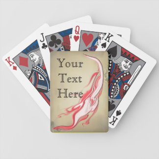 Personalized Streaming Grunge Colors Red White Poker Deck