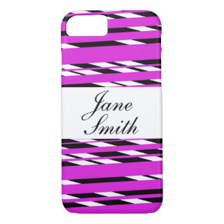 Personalized striped phone case