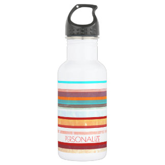 Personalized Stripes 532 Ml Water Bottle