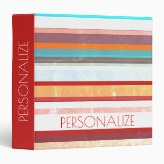 Personalized Stripes Binders