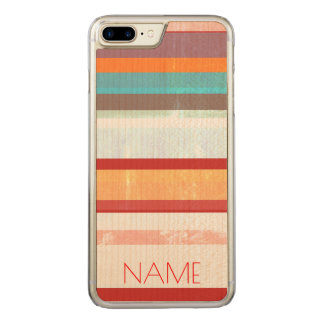 Personalized Stripes Carved iPhone 8 Plus/7 Plus Case