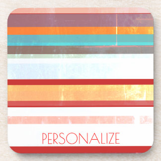 Personalized Stripes Coaster