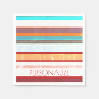 Personalized Stripes Disposable Napkin