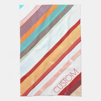 Personalized Stripes Kitchen Towel