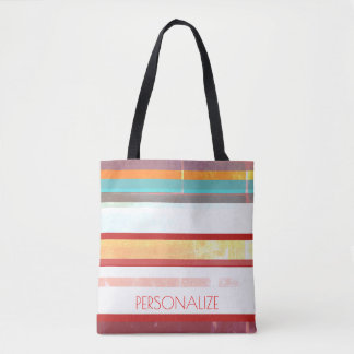 Personalized Stripes Tote Bag