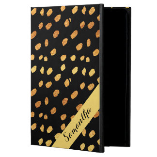 Personalized Stylish Black and Gold Case For iPad Air