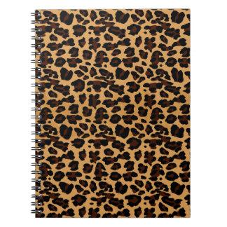 Personalized Stylish Chic Animal Leopard Print Note Books