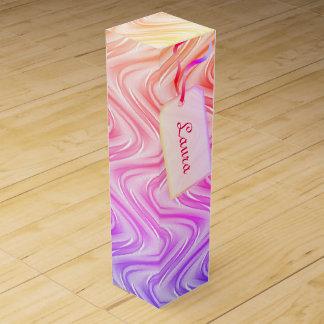 Personalized stylish modern colorful design wine box