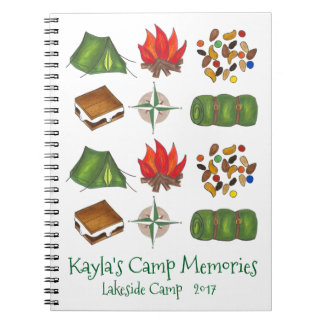Personalized Summer Camp Camper Camping Notebook