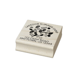 Personalized Summer Camp Trail Mix Campground Rubber Stamp