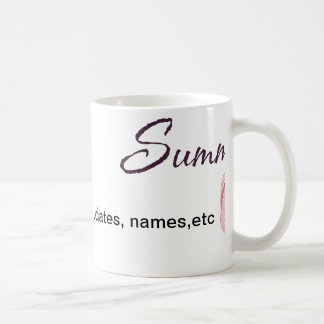 Personalized Summer Gifts Classic White Coffee Mug