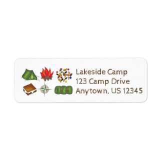 Personalized Summer Sleepaway Camp Camping Labels