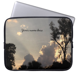 Personalized Sun Rays at Sunset Laptop Sleeve