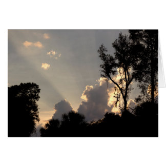 Personalized Sun Rays at Sunset Photo Card