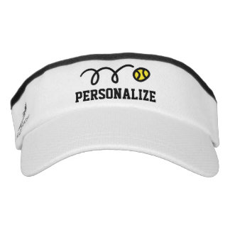 Personalized sun visor cap for tennis player coach