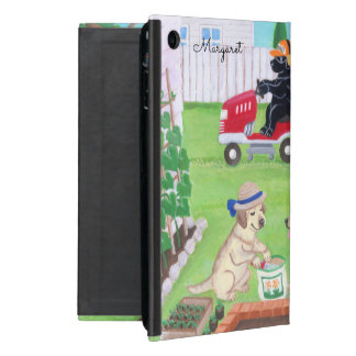 Personalized Sunday Fun Labradors ipad mini case
