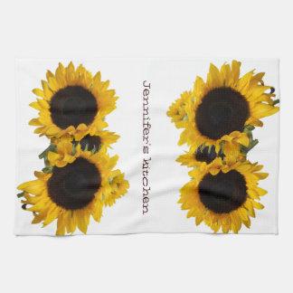 Personalized Sunflower Custom Kitchen Towel