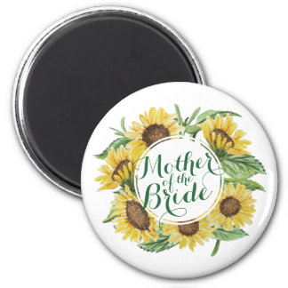 Personalized Sunflower Wreath Wedding | Magnet