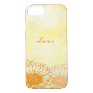 Personalized, Sunflowers iPhone 7 Case