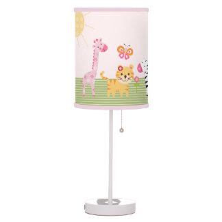 Personalized Sunny Safari Girl Animal Nursery Lamp