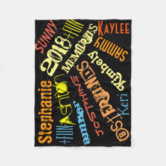Personalized Sunshine Blanket 8 or 9 Names