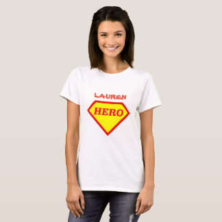 Personalized Super Hero Ladies T-Shirt