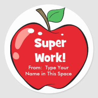 Personalized Super Work Stickers