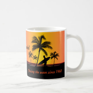 Personalized Surfer surfing chasing the wave Coffee Mug
