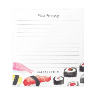Personalized | Sushi Shopping List Notepad