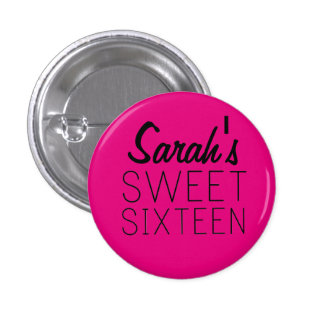 Personalized Sweet 16 Pin
