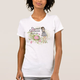 Personalized Sweet 16 Stylish Girl Flower T-Shirt