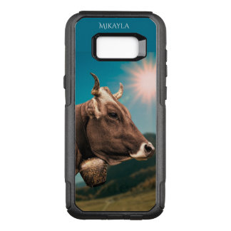 Personalized Sweet Brown Swiss Cow OtterBox Commuter Samsung Galaxy S8+ Case