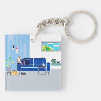 Personalized SWEET HOME Acrylic Keychain