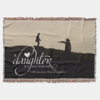 Personalized Sweet Photo Gift for Daughter Throw Blanket