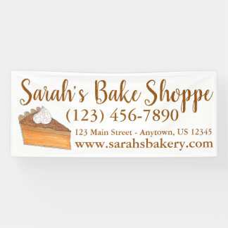 Personalized Sweet Potato Pie Bakery Bake Shop Banner