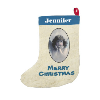 Personalized Sweet Vintage Angel Christmas Small Christmas Stocking