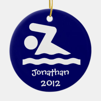 Personalized Swim Design Ornament