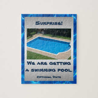 Personalized Swimming Pool Surprise Jigsaw Puzzle