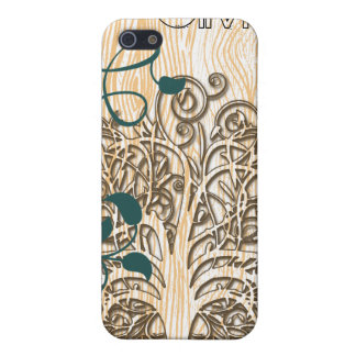 Personalized Swirl Tree Damask iPhone Case Case For iPhone 5/5S