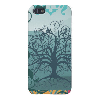 Personalized Swirl Tree Damask iPhone Case Case For The iPhone 5