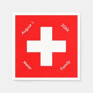 Personalized Swiss Flag Custom Switzerland Napkin
