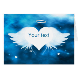 Personalized Sympathy Card - Angel of the Heart