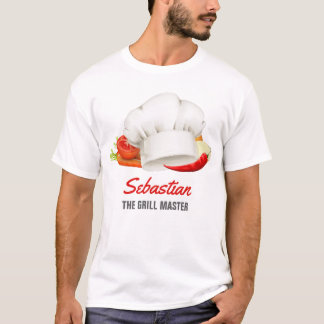 Personalized t-shirt Chef Kitchen Grill Master