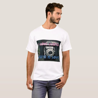 Personalized t-shirt I LOVE PHOTO PHOTO IS LOVE